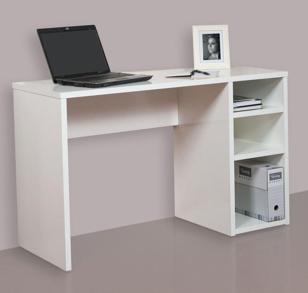 Hogar24 Mesa Escritorio Mesa Estudio Con 3 Estantes Color  ~ Mesas De Escritorio Para Ordenador