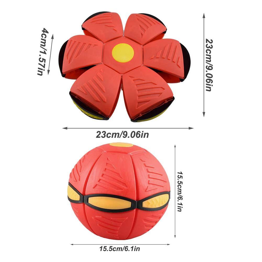 Kinder Neuheit Fliegende UFO Flache Wurfscheibe Ball Spielzeug Mit Licht Magic Vent Ball Frisbee Verformbare Fliegende Untertasse Ball Leistungen Fancy Soft Kids Outdoor Spiderman Kinder Geschenk