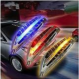 Solar LED Warning Lamp Anti-Theft Anti-Collision Warning Lamp Side Lights Marker Turn Signal Light 2PCS