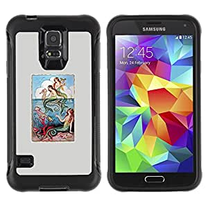Suave TPU GEL Carcasa Funda Silicona Blando Estuche Caso de protección (para) Samsung Galaxy S5 V / CECELL Phone case / / Nature Grey Sea Mystical Poster /