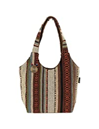 Laurel Burch Catori Scoop Tote, 16-Inch by 5-1/2-Inch by 11-Inch, Sandsation