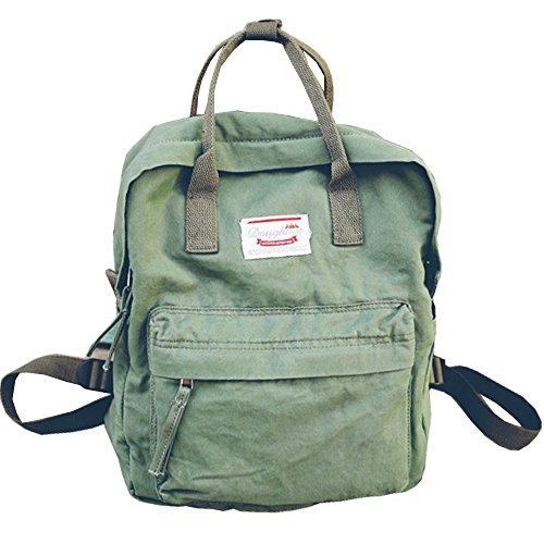 LuckyZ Womens Casual Style Lightweight Canvas Backpack School Bag Travel Daypack Medium Handbag Purse, - North Leather Beach
