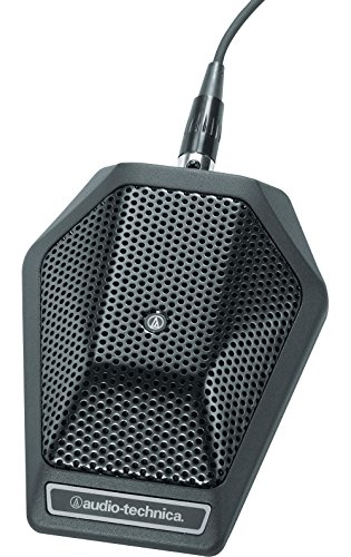 Audio-Technica Unipoint Cardioid Condenser Boundary Microphone in Black with switch