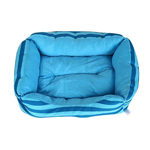 vmree Pet House Bed Pet Dog Cat Bed House Kennel Doggy Warm Cushion Basket (Blue, S)