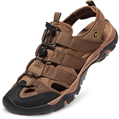 ATIKA AT-M107-BRN_Men 11 D(M) Men's Sports Sandals Trail Outdoor Water Shoes 3Layer Toecap M107 by ATIKA (Image #5)