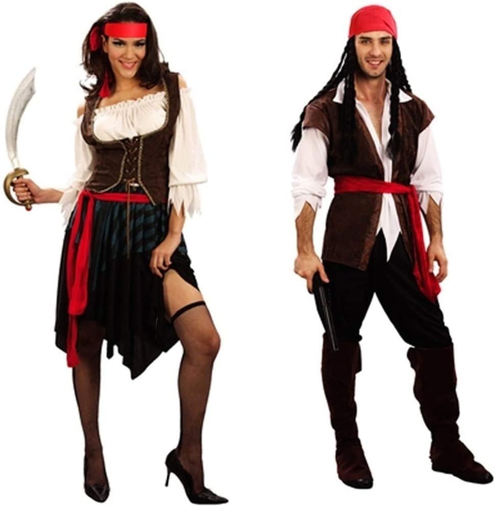 SR T.c-CLOTHING Disfraces de Halloween for Hombres, Traje Pirata ...