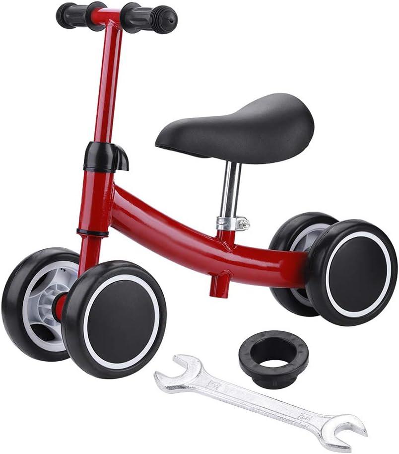 Estink Balance, Andador de Bicicleta, diseño sin Pedal, Seguro, Adecuado para Mini Patinete de 4 Ruedas, para niños y bebés de 1 a 2 años de Edad, Rojo: Amazon.es: Deportes y aire libre