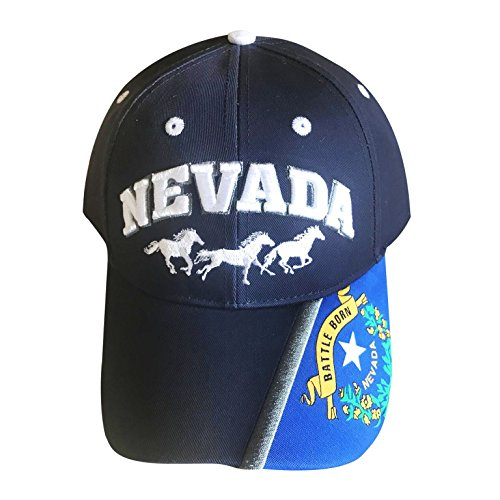 RedEarthNaturals Nevada Hat - Great for Nevada Wolfpack Hat Fans & Anyone Who Loves the State of Nevada