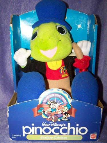Walt Disney Jiminy Cricket - Walt Disney's Pinocchio Jiminy Cricket Plush Doll By Mattel 1992