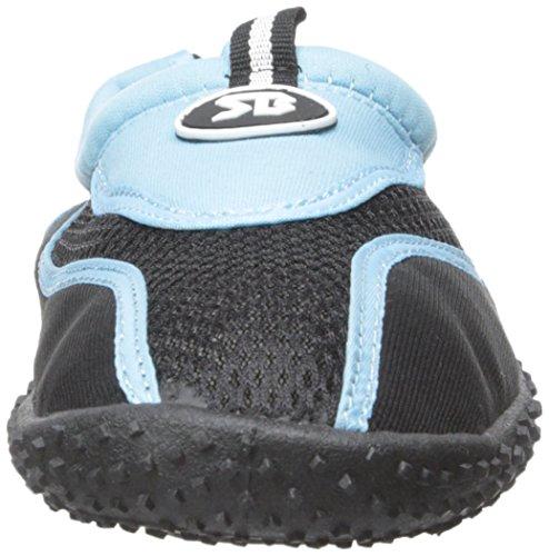 Der Bucht-Frauen Beleg auf athletischen Aqua-Socken-Wasser-Schuhen Blau-2907