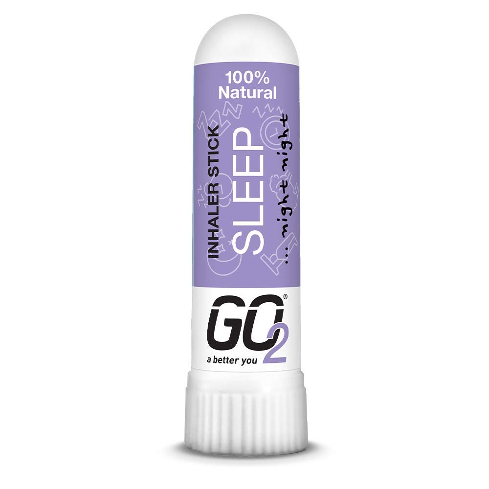 GO2 Inhaler Sleep Stick — Essential Oils for Convenient On-The-Go Use — 100% Natural, Synthetic-Free and Cruelty-Free (1ml Tube)