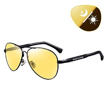 XYEQZ Gafas De VisióN Nocturna Conducen Gafas De Sol Polarizadas De Color De Doble Uso, DíA Y Noche, Especiales Lentes De Ojo Nocturno Anti-Haz: Amazon.es: ...