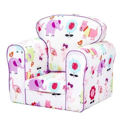 Ready Steady Bed/® Cute Pets Design Upholstered Childrens Armchair with Removable Cover