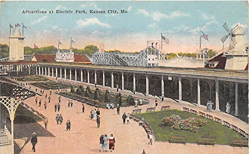 Kansas City, Missouri, MO, USA Postcard Attractions at Electric Park Unused