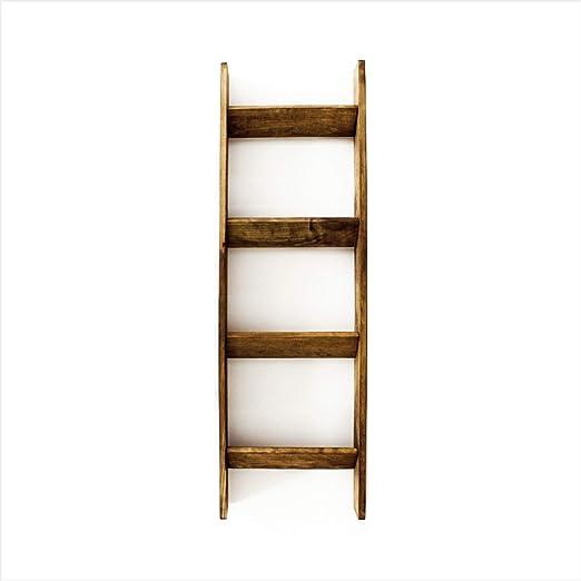 Rusted Pine Escalera de Mantas de Madera de Pino Oxidado: Amazon.es: Juguetes y juegos