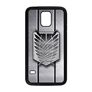 LeonardCustom Protective Hard Rubber Coated Cover Case for Samsung Galaxy S5, Attack on Titan Scout Regiment Logo -LCS5U100
