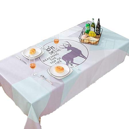 Protector de mesa de PVC Mantel - Mantel de PVC Grueso Impermeable ...