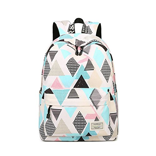 615 Waterproof Lightweight Boys Print Bookbag Girls for Backpack School Fashion Cute and Rhombus Acmebon Fox gqwdOCaq