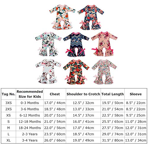 91b50552abbf Newborn Baby Girls Floral Romper Toddler Icing Ruffle Jumpsuit Pants ...