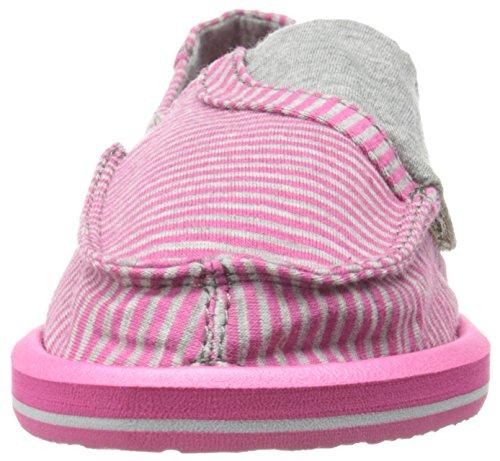 Sanuk Kids Pick Pocket Tee Sidewalk Surfer Kids (Toddler/Little Kid),Fuchsia Stripes,11 M US Toddler by Sanuk (Image #4)