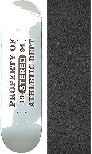 ステレオスケートボード 1994年発売 ステレオスケートボードデッキ - 8.5インチ x 32インチ モブグリップ穴あきブラックグリップテープ付き - 2個セット   B07CNN46PV, マツドシ 865755ca