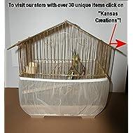 Sheer Guard Bird Cage Skirt - Medium Size (White)