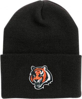 - Cincinnati Bengals Black Cuff Beanie Hat - NFL Cuffed Winter Knit Toque Cap