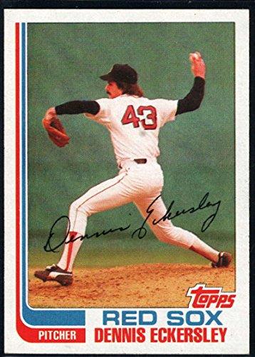 Baseball MLB 1982 Topps #490 Dennis Eckersley Red Sox 1982 Topps Mlb Card