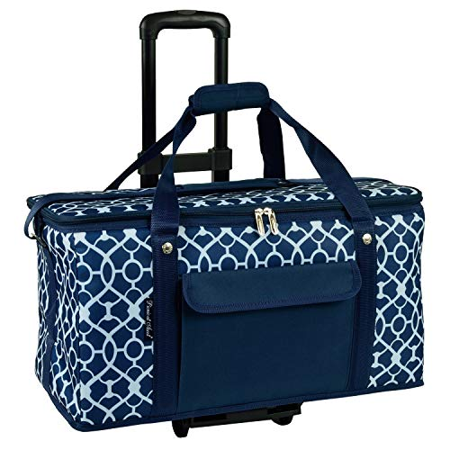 Picnic at Ascot Travel Cooler with Wheels- 64 Can Capacity- Collapsible Leakproof Cooler- Designed & Quality Approved in the USA (Renewed)