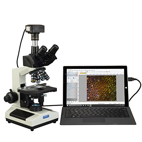 OMAX 40X-2000X Super Speed USB3 5MP Digital Darkfield Trinocular LED Lab Microscope for Live Blood by OMAX