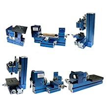 KOHSTAR 6 in 1 Mini Handwork Machine kit: Jig-Saw, Lathe, Drilling, Milling, Woodturning, Sanding Machines for Soft Metal Wood Working