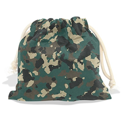 Military Camo Camouflage Pattern Print Velvet Drawstring Gift Bag Wrap Present Pouch Favor for Party Game Wedding, Multiple Sizes - Zipper Grip Mini Bags