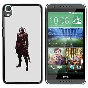 FlareStar Colour Printing Swordsman Pc Game Elf Warrior Mystical cáscara Funda Case Caso de plástico para HTC Desire 820