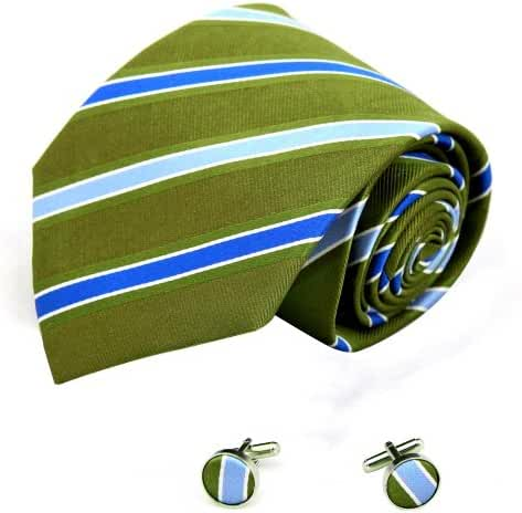 YAB2A14 Various of Colors Stripe Gift Idea for Xmas Day Silk Ties 2PT By Y&G