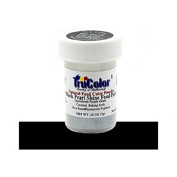 Amazon Com Trucolor Black Pearl Shine Natural Food Coloring Powder