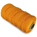 CWC Twisted Mason Twine - #36 x 480', Yellow (Pack of 12 cones)