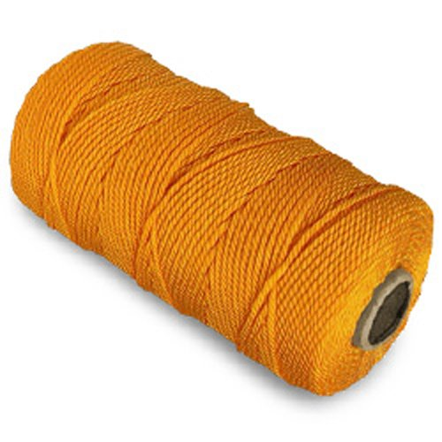 CWC Twisted Mason Twine - #18 x 1100', Yellow (Pack of 12 cones)
