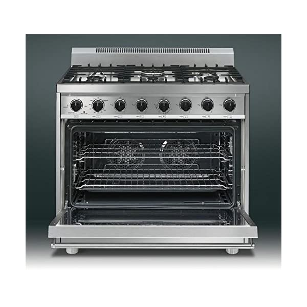 "Smeg C36GGXU 36"" Free Standing Gas Range with 6 Gas Burners and 3 Cooking Modes, Stainless Steel 3"