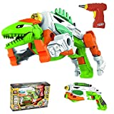 Take A Part Dinosaur and Guns with Power Drill Toy for Boys 3 4 5 Years Old as Xmas Gift - Construction Engineering STEM Learning Toy Building Play Set