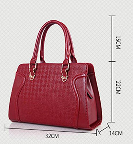 Sac De Ladies Leisure à PU Ensembles paquet Fashion Bandoulière Sous Bag Quatre Sac Main red à Messenger 1xqB4xwz