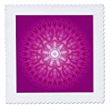 3dRose Andrea Haase Art Illustration - Purple Mandala Illustration - 16x16 inch quilt square (qs_268249_6)
