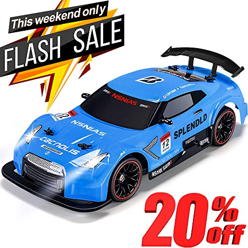 NQD RC Car Electric Racing Drift Car 1/14 2.4Ghz Radio Remote 25Km/h Controlled RTR Truck for Kids Adults Gifts 4WD High Speed Racer Car with 7.4V Battery and One Extra Rechangeble Car Shell, Blue