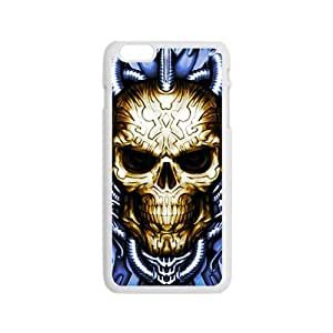 Blue water pipe skull Phone Case for iPhone 6