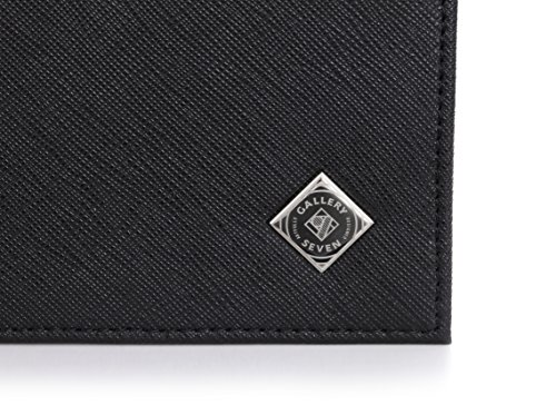 Gallery Seven RFID Blocking Wallet, Faux Leather Wallet Men, Vegan Leather, Bifold Slim Wallet, Enclosed In An Elegant Gift Box - Black/Brown - One Size by Gallery Seven (Image #5)