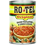 Rotel Tomatoes & Green Chiles Diced Original, 10 OZ (Pack of 24)