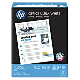 HP Printer Paper, Office20, 8.5 x 11, Letter, 92 Bright, 5,000 Sheets / 10 Ream Carton (112101C) Made In the USA