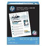 HP Printer Paper, Office20 Paper, 8.5 x 11, Letter Size, 20lb, 92 Bright, 10 Ream Case / 5,000 Sheets (112101C) Acid Free Paper