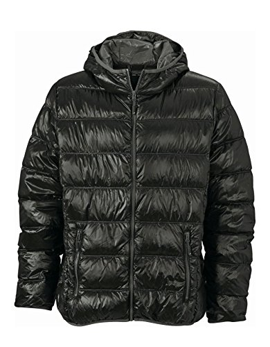 Uomo Stile Jacket grey Ultraleggera Casual Con Men's Black Sottogiacca Cappuccio Down U6FCnw6q