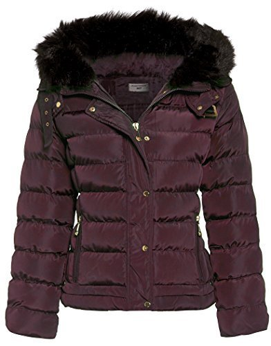 to Women's 16 Padded Sizes Berry SS7 Jacket Winter 8 4xYnqHw
