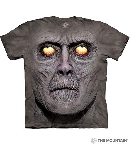 (The Mountain Zombie Portrait Adult T-Shirt, Grey,)